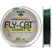 Шнур плетеный NTEC Fly Cat GREEN (зеленый) 274 m