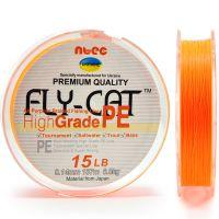 Шнур плетеный NTEC Fly Cat ORANGE (оранжевый) 274 m