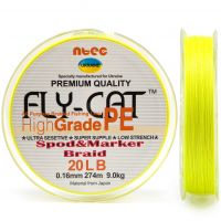 Шнур плетеный NTEC FlyCat Spod & Marker Braid 274м - Yellow