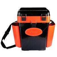 Ящик для зимней рыбалки FishBox - 10L - 2 секции - Оранжевый