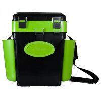 Ящик для зимней рыбалки FishBox - 10L - 2 секции - Зеленый