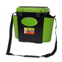 Ящик для зимней рыбалки FishBox - 10L - Односекционный  - Зеленый