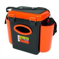 Ящик для зимней рыбалки FishBox - 10L - Односекционный  - Оранжевый