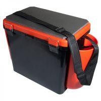 Ящик для зимней рыбалки FishBox - 19L - Односекционный  - Оранжевый