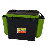 Ящик для зимней рыбалки FishBox - 19L - Односекционный  - Зеленый