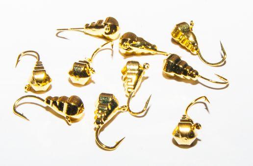 Мормышка вольфрамовая капля граненная золото   G0 0,3г