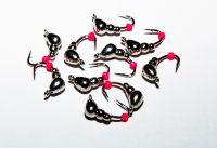 Мормышки  вольфрамовые Diskus Санкт-Питербург муравей 0,5г никель с бисером