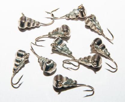 Мормышка вольфрамовая капля граненная серебро темное G 1,48г