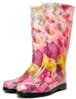 Сапоги резиновые Женские цветные с принтом Псков РС-16 С
