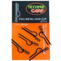 Цельнометаллическая безопасная клипса ТехноКарп Full Metal Lead Clip - 5шт.