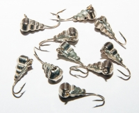 Мормышка вольфрамовая капля граненная серебро светлое G 0,8г