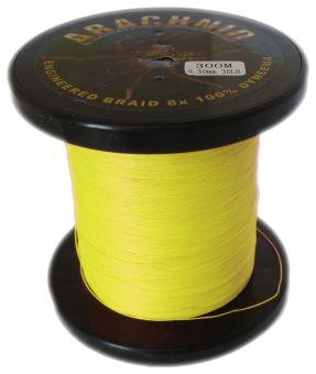 Плетенка Arachnid 1000 м. желтая