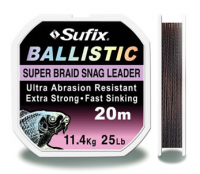 Шнур Sufix Ballistic 20m, 0,35 - dark brown