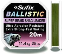 Шнур Sufix Ballistic 20m, 0,35 -  olive green