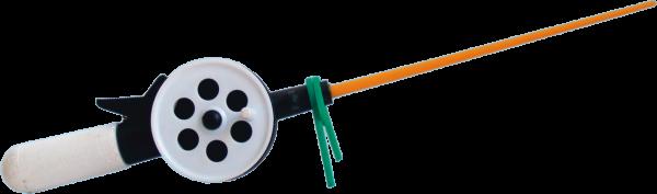 Удочка зимняя - пенопластовая ручка короткая