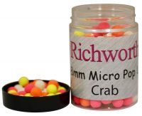 Бойлы плавающие Richworth 6-8 mm Micro Pop-Ups Crab - 100 ml