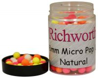 Бойлы плавающие Richworth 6-8 mm Micro Pop-Ups Natural - 100 ml
