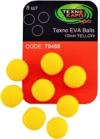 Texno EVA Balls 10mm yellow (Желтый) уп/8шт