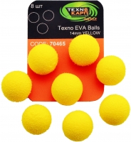 Texno EVA Balls 14mm yellow (Желтый) уп/8шт