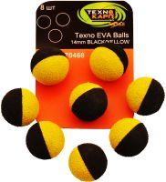Texno EVA Balls 14mm black/yellow (Черно-желтый) уп/8шт