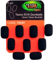 Texno EVA Dumbells 13mm*10mm black (Черный) уп/8шт