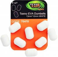 Texno EVA Dumbells 13mm*10mm white (Белый) уп/8шт