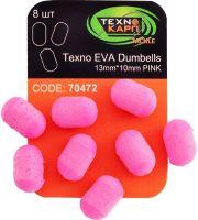 Texno EVA Dumbells 13mm*10mm pink (Розовый) уп/8шт