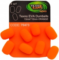 Texno EVA Dumbells 13mm*10mm orange (Оранжевый) уп/8шт