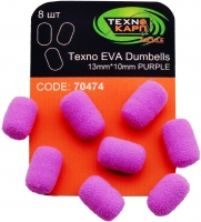 Texno EVA Dumbells 13mm*10mm purple (Фиолетовый) уп/8шт