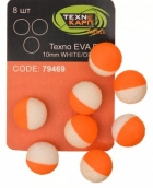 Texno EVA Balls 10mm white/orange уп/8шт