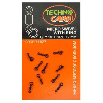 "ТехноКарп Микро-вертлюг с кольцом ""Micro swivel with ring"" - 10шт"