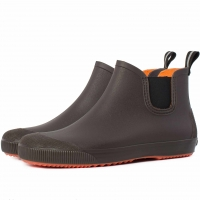 Мужские резиновые ботинки Псков Nordman Beat ПС 30 Коричневый с оранжевой подошвой