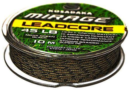 Карповый материал Kosadaka Mirage Leadcore 45lb 10m хаки-черный