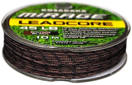 Карповый материал Kosadaka Mirage Leadcore 45lb 10m коричнево-черный