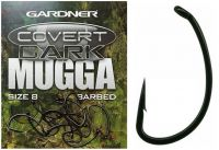 Карповые крючки Gardner - Covert Dark Mugga Hooks Barbed - 20шт