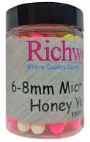 Бойлы плавающие Richworth - Micro Pop-Ups - Honey Yucatan (Мед) - ERW6HY - 6-8 мм (100 мл)