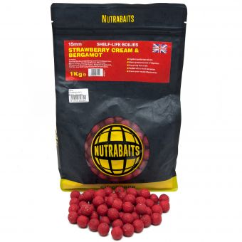 Бойлы Nutrabaits STRAWBERRY CREAM & BERGAMOT 1kg