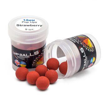 Пробник плавающих бойлов CarpBalls Pop Ups - 14 мм - Strawberry (клубника)