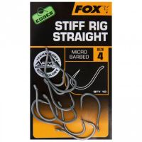 FOX крючки с прямым жалом EDGES Stiff Rig Straight