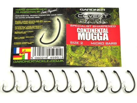 Карповые Крючки Gardner Hand Sharpened CONTINENTAL MUGGA (ручная заточка)