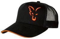 FOX летняя кепка с сеточкой Black & Orange Trucker Cap