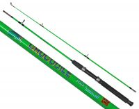 Спиннинг Crocodile с кольцами - Штекерный - Extra Fast - 1,65 м - Стекловолокно - 100-250 г - Зеленый