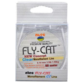 Леска для зимней рыбалки NTEC Fly Cat Monofilament Ice Line - 50 метров