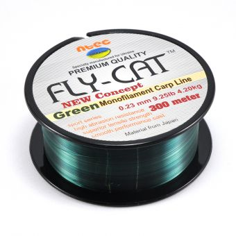 Леска карповая NTEC Fly Cat Green - 300m (Monofilament Carp Line)