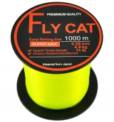 Леска карповая NTEC Fly Cat Fluro Yellow 1000m