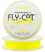 Шнур плетеный NTEC Fly Cat YELLOW (желтый) 137 m