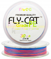 Шнур плетеный NTEC Fly Cat Multicolor 274 m