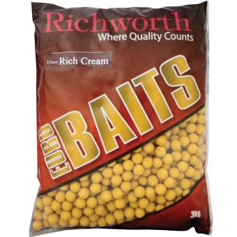 "Бойлы Richworth Euro Baits ""Rich Cream"" - 3 kg (Крем)"