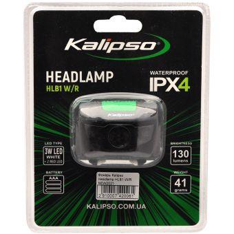 Налобный светодиодный фонарь Kalipso Headlamp HLB1 W/R