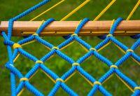 Гамак усиленный безузловой - Верёвка Ø10 мм - 130x200 см - Голубой